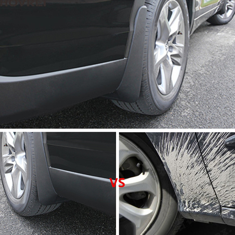 4PCS Splash Guards Mud Flaps For RAM 1500 2500 3500 Front Rear 2018 w//o Flares
