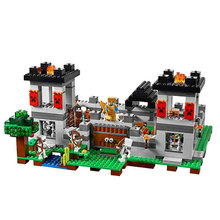 990pcs The Fortress Steve Skeletons My World Mine Sets Building Block with action figures bricks toys for children 21127