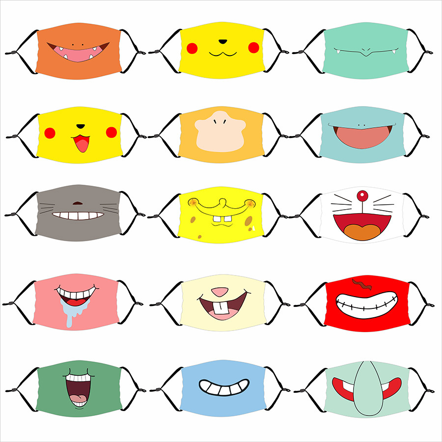 Cartoon Pokemon Pocket Pikachu Masks Christmas Birthday Party Dress up Costume Cosplay Masks For Kids Children Party Favor Gift