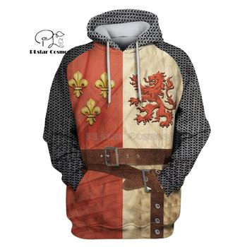 цена на PLstar Cosmos  All Over Printed Knights Templar 3d hoodies/Sweatshirt Winter autumn funny Harajuku Long sleeve streetwear