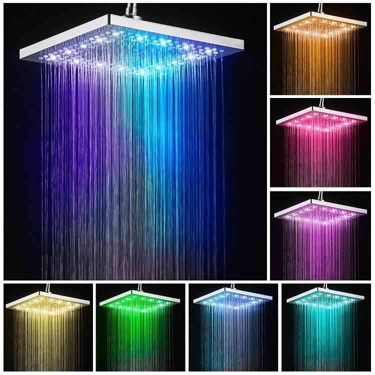 LED Light 3 Spraying Mode Handheld Shower Head Digital Temperature Control Shower Sprayer Water Saving Shower Filter