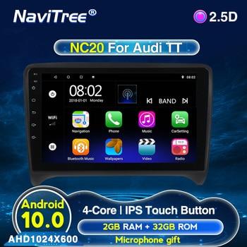 Android 2G + 32G Auto Multimedia-player Für Audi TT MK2 8J 2006 2007 2008 2009 2010 2011 2012 radio unterstützung lenkrad-steuerung