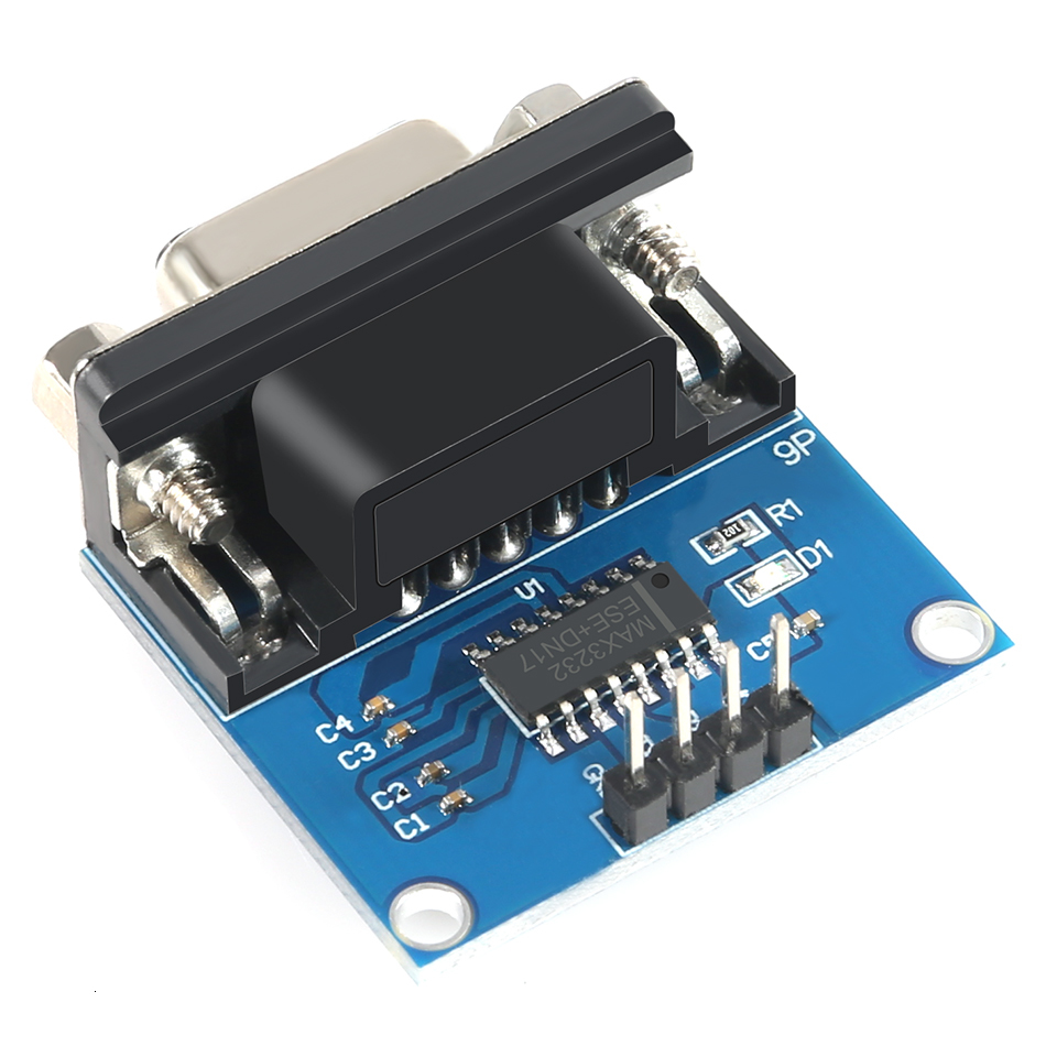 New Max3232 Rs232 To Ttl Serial Port Converter Module Db9 Connector Max232