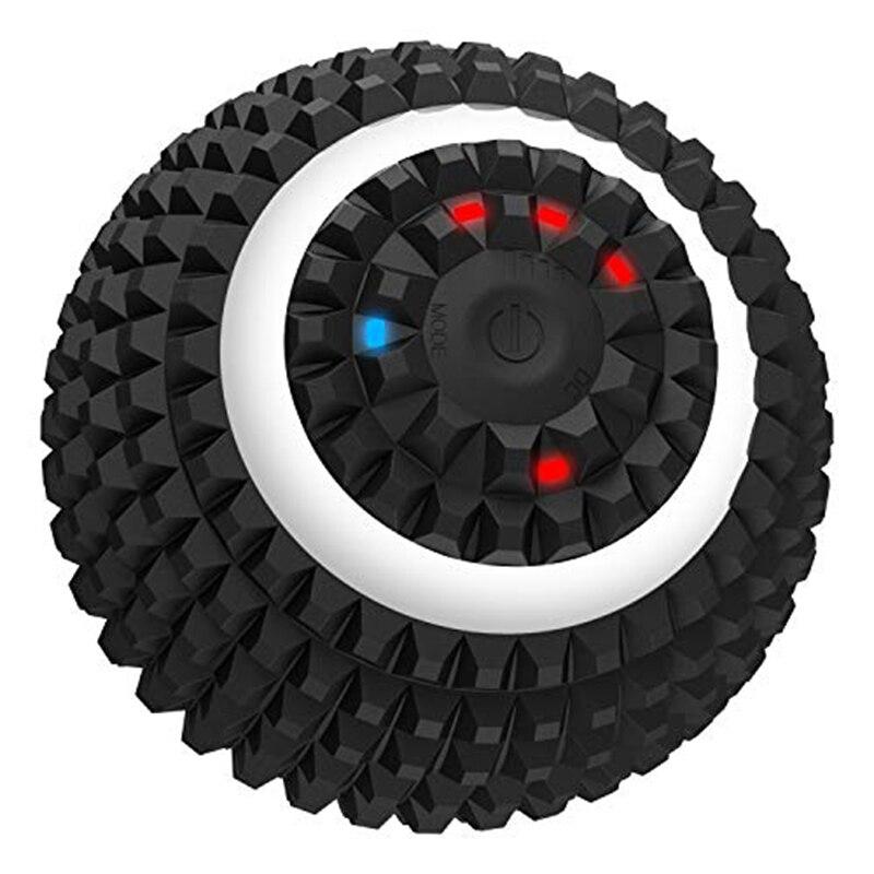 Electric Massage Ball 4-Speed Vibrating Massage Ball USB Rechargeable Massage Roller Training Yoga Fitness Foam Roller