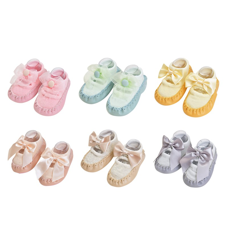 Boys Girls 2019 Spring Autumn Cotton Shoes Socks Cute Warm Anti-Slip Infant Floor Shoes Socks Warmer Indoor Walk Learning Socks
