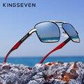 KINGSEVEN алюминиевые мужские солнцезащитные очки с поляризационными линзами фирменный дизайн дужки солнцезащитные очки с покрытием зеркальн...