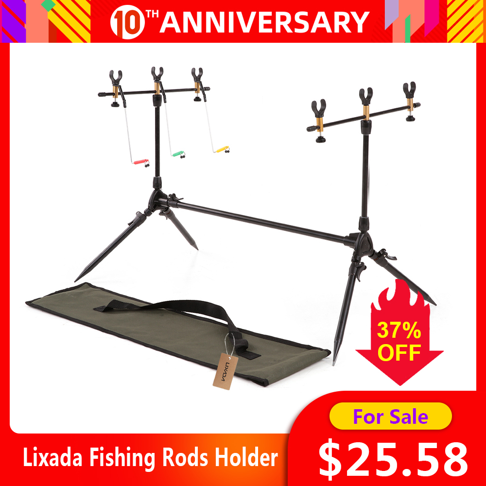 Lixada Fishing Rods Holder Carp Fish Rods Stand Adjustable Retractable Fishing Pole Pod Stand Tackle Accessory Bracket For Pesca|Fishing Rods| |  - title=
