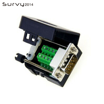цены 1 DB9 terminal block screw type D-Sub female 9-pin plug branch terminal non-solder nut type connector diy electronics