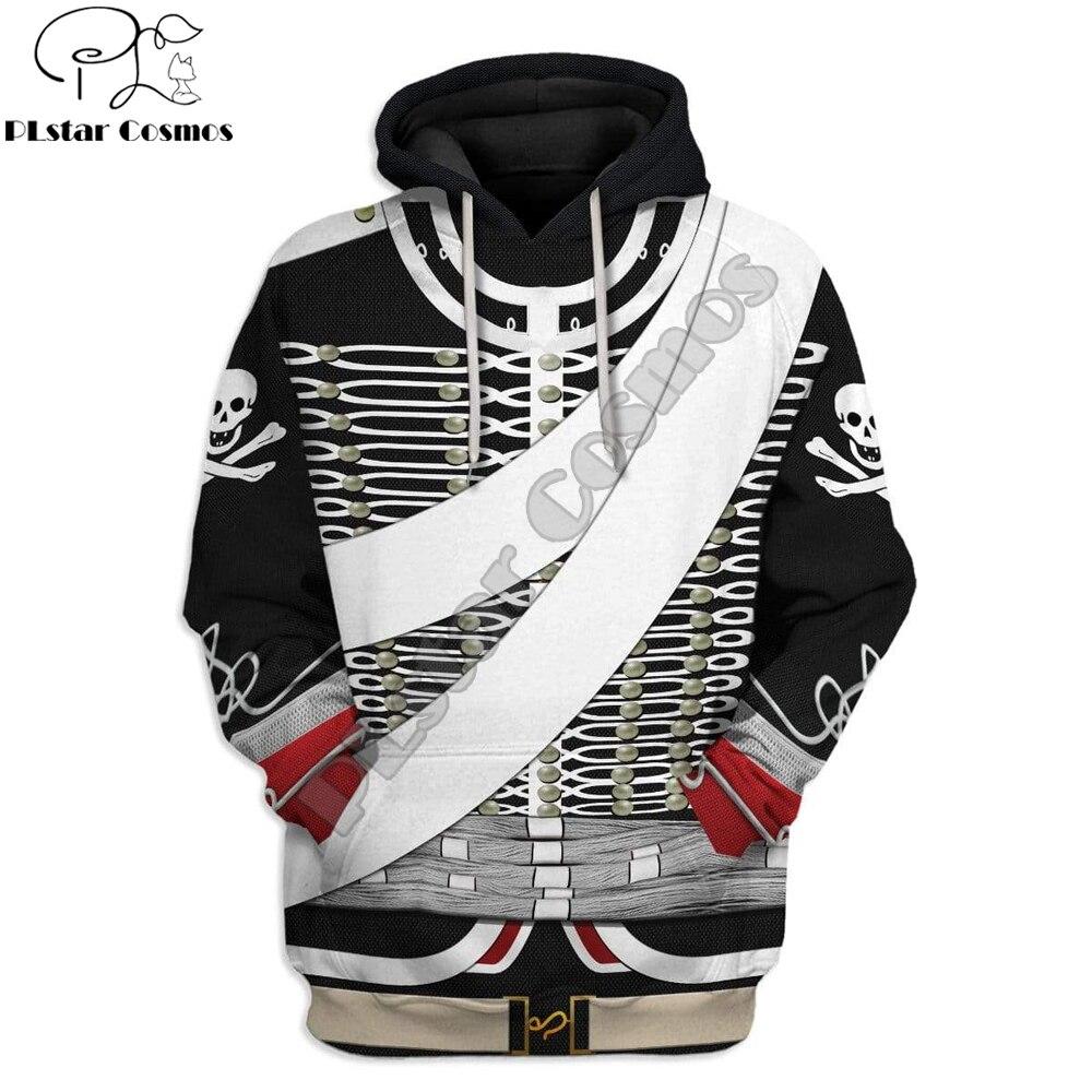 3D Cosplay Hussard De La Mort Custom Printed Hoodies Apparel Harajuku Sweatshirt Unisex Casual Pullover sudadera hombre DW063