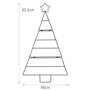 Image 5 - Nordic ins mini Gold white Christmas tree set home wall hanging diy stars Xmas decorations New year Kids Room decor supplies