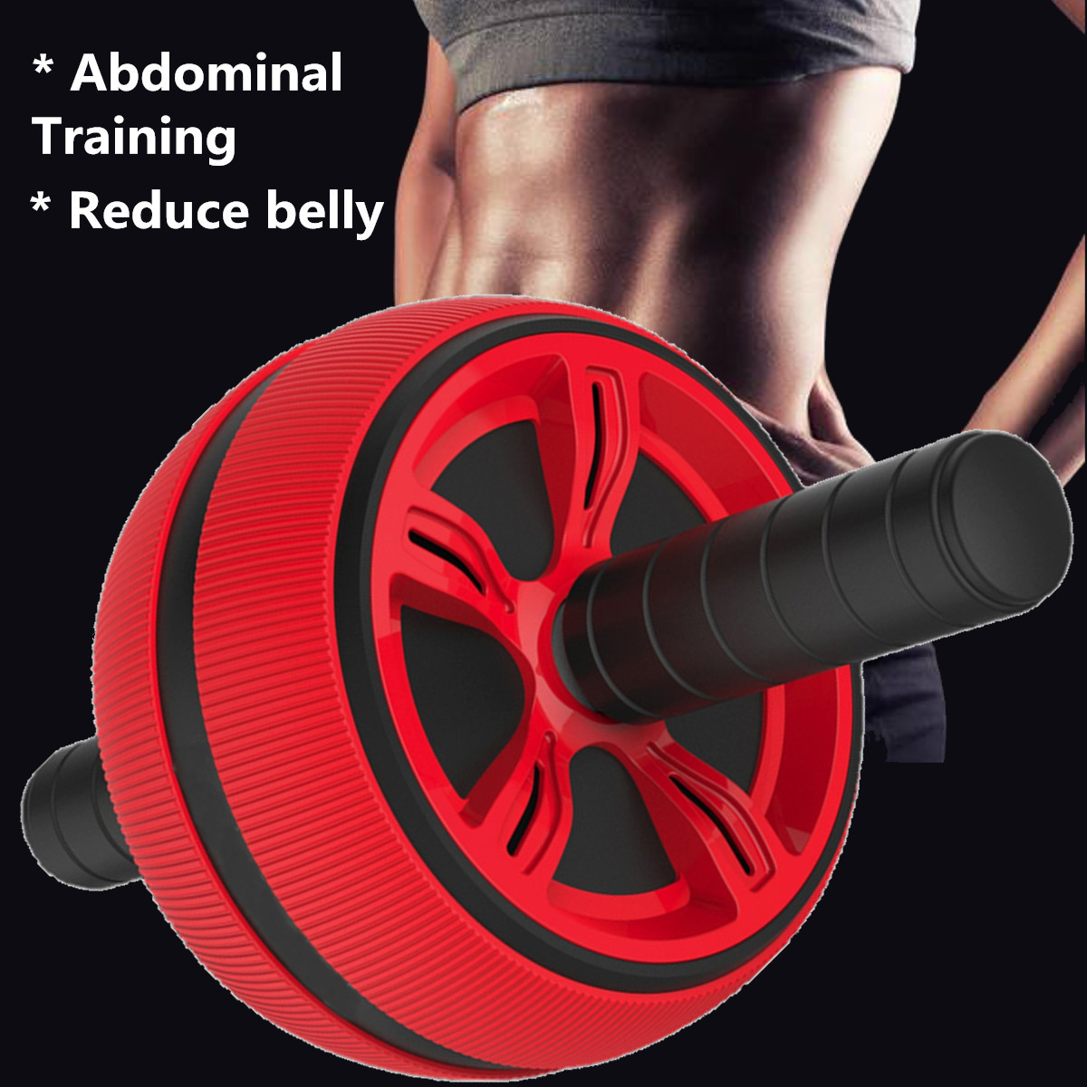 Abs Roller big Wheel Abdominal Muscle Trainer For Fitness No Noise Ab Roller Wheel Workout Abs