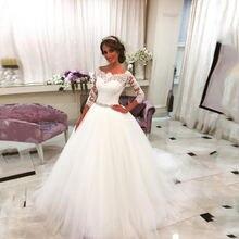 Кружевное бальное платье с аппликацией свадебные платья 2021