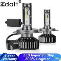 Zdatt H7 LED Lamp H8 H4 LED H11 Ice Lamp H27 880 Car Light 9005 HB3 LED Headlights 12000LM 100W 6000K 12V Automobiles Lamp