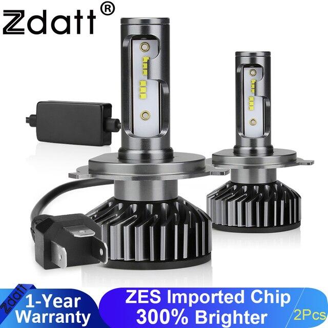 Zdatt H7 ledランプH4 led H8 H9 H11アイスランプH27 880車のライト9005 HB3 ledヘッドライト12000LM 100ワット6000 18k 12v自動車ランプ