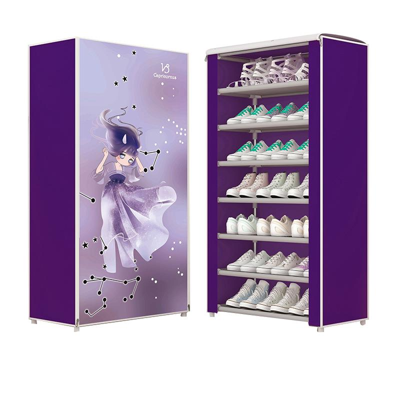 Practical Assemble Shoe Shelf Shoe Cabinet Slipper Housekeeping Closet Storage Home Organization Creative 8 Layer