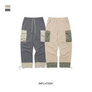 Image 5 - Мужские спортивные штаны с карманами INFLATION, серые свободные штаны прямого покроя в уличном стиле, 93440 вт, модель 2020 года