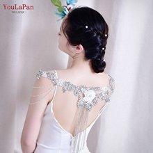 Youlapan g37 Свадебная шаль накидка с Стразы Болеро женские