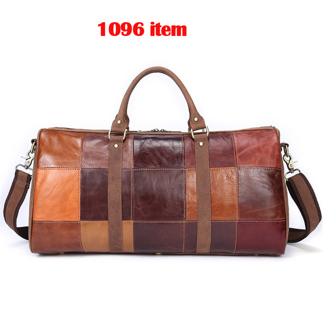 WESTAL Men's Travel Duffel Bag Genuine Leather Big Weekend Bags Large Totes Overnight Carryon Hand Bag Travel Bags Luggage 8883 2