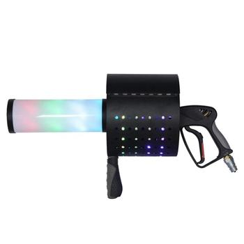 цена на Handheld Led Co2 Gun Cryo LED CO2 Jet Machine Pistol Special Effects Co2 Cannon Guns Free Co2 Gas Hose Stage Lights DJ Disco LED