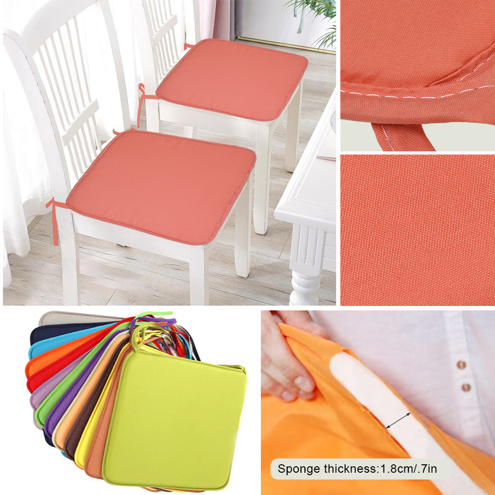 Image 4 - 37X37cm Chair Pad Cushions Seat For Home Office Dinning Chair Solid Color Indoor Outdoor Seat Chair Pad Home Decor-in Cushion from Home & Garden
