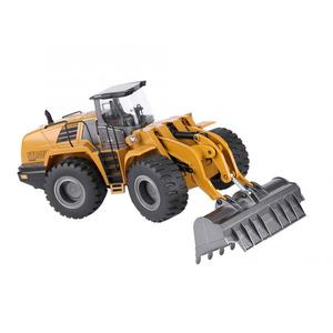 Image 2 - Huina 583 10CH RC Excavator Car 2.4G 1:14 RC Truck Remote Control Metal Arm Excavator Engineering Vehicle kids Toy Gift