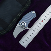 NKAIED Parrot ball bearing S35VN blade Titanium Handle folding Hunting pocket outdoor camping knife knives EDC tool