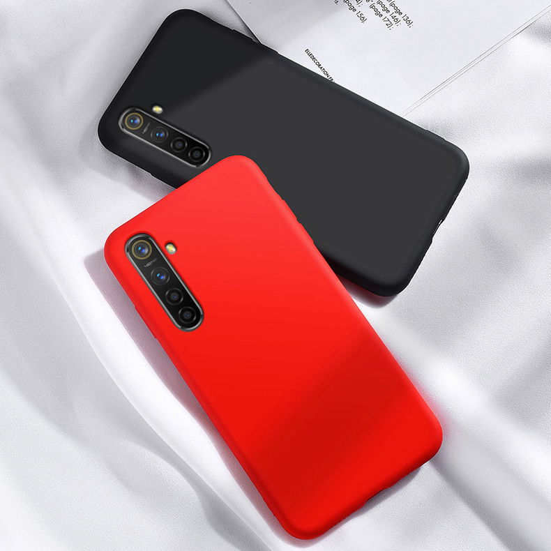 For <font><b>Oppo</b></font> Realme XT <font><b>Case</b></font> Soft Luxury <font><b>Liquid</b></font> Silicone Smooth Phone Bumper <font><b>Case</b></font> Realme XT Protective Back <font><b>Cover</b></font> For <font><b>Oppo</b></font> Realme XT image