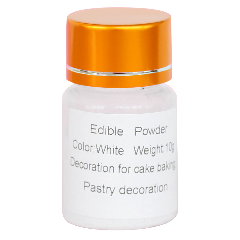 10g White Color Edible Food Powder For Decorating Chocolate Cake Arts Food Decoration Fondant Natural Pearl Pigment
