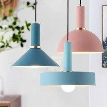 LED Iron Macarons Pendant Lights AC90-260V Living Room Decoration Hanging Lamp Bedroom Bedside Pendant Lamps Bar Cafe Hanglamp