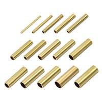 Uxcell-tubo redondo de latón de 2mm, 3mm, 4mm, 5mm, 6mm, 7mm, 8mm, 9mm, 10mm, OD, 30mm de longitud, tubos sin costura para manualidades DIY, 20 Uds.