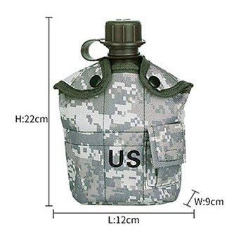 CNDRAGON Brand Large Capacity 1000ml Kettle sport Outdoor travel Bottle Portable Folding water bottle military camouflage bag 6