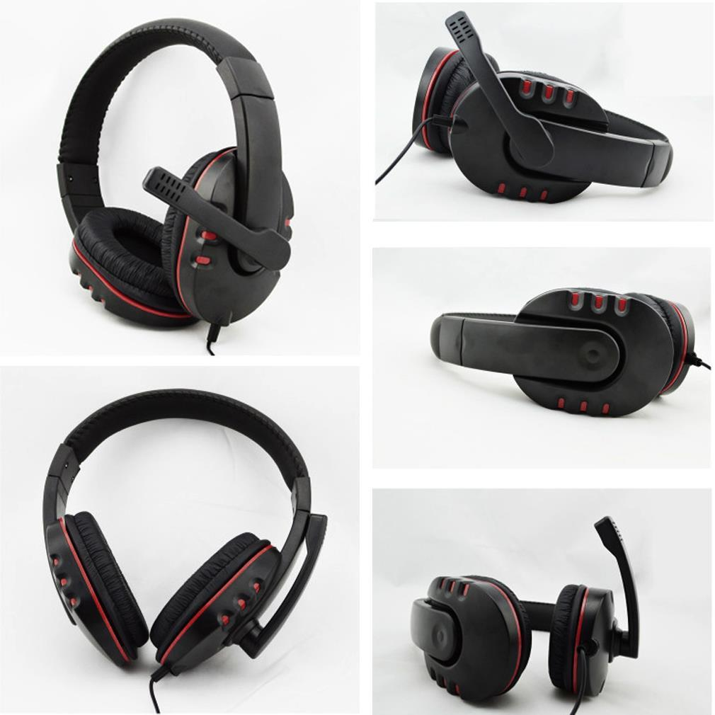 Headphones 3.5mm Wired  Gaming Headset Earphones Music Microphone For PS4 Play Station 4 Game PC Chat computer With Microphone 2