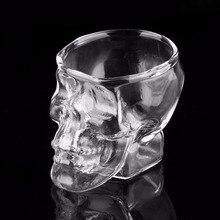 Skull Head Shot Glass Cup Wine Mug Beer Glass Mug Crystal Whisky Vodka Tea Coffee Cup 80ml Gift Water Bottlediscount particular handled skull design 400ml wine coffee tea cup