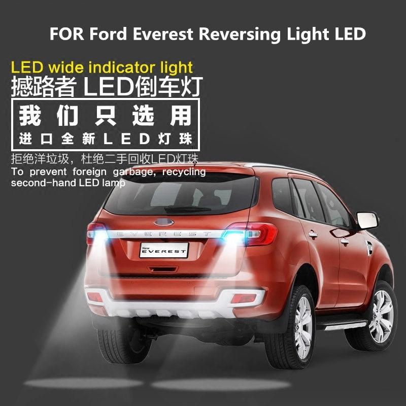 Reversing Light  LED For Ford Everest 2017-2019 LED 9W 5300K T15 Evacuation Auxiliary Light Everest  Light Refit Reverse Light