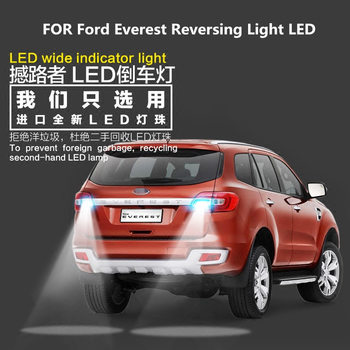 цена на Reversing Light  LED For Ford Everest 2017-2019 LED 9W 5300K T15 Evacuation Auxiliary Light Everest  Light Refit Reverse Light