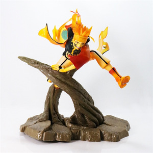 2019 new Anime figure Uzumaki Naruto celestial Nine tails mode PVC action figure flash collection toy figurine T30