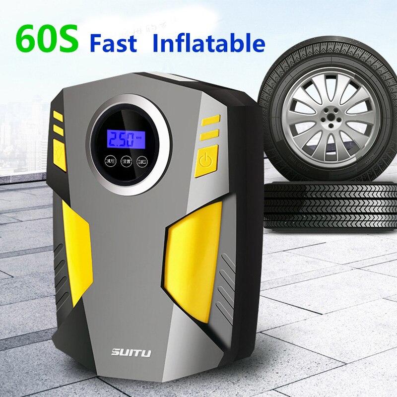 Portable Car Air Compressor DC 12V Digital Tire Inflator Air Pump ...