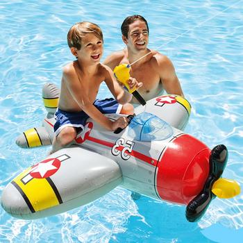 New Summer Water Float Airplane Toy Durable Inflatable Ride-on Squirter Fighter Plane Water Toy For Children Over 3 Years Old
