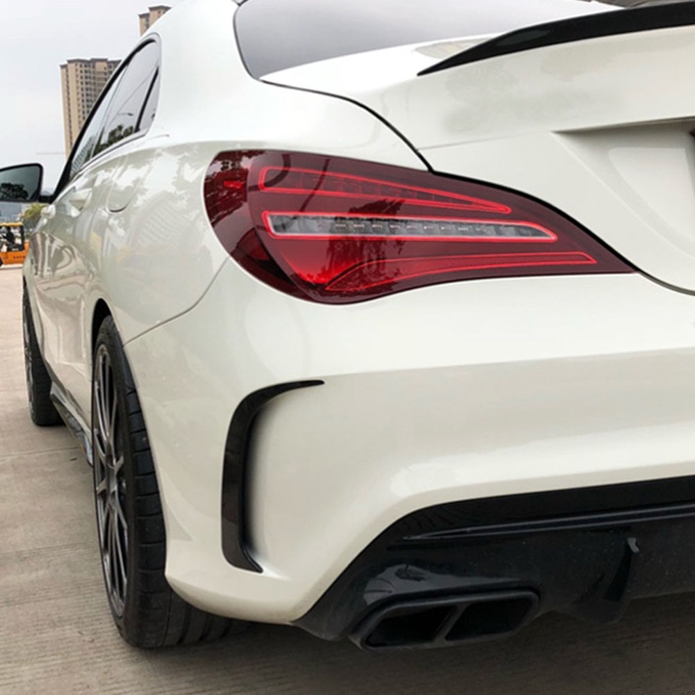2017 Vehicle Splitter Spoiler Air Knife Decoration Trim Car Rear Side Body Decals For <font><b>Mercedes</b></font> <font><b>Benz</b></font> <font><b>CLA</b></font> C117 220 260 <font><b>200</b></font> image