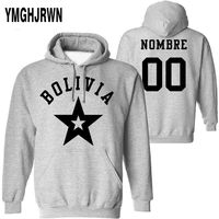 BOLIVIA male pullover custom made name number bol country sweatshirt bo nation flag spanish college bolivian print photo clothes