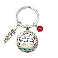 2019 New Hot School Gift Time Glass Dome Keychain 8 Color Crystal Alloy Leaf Jewelry Key Ring Small Gift цена и фото