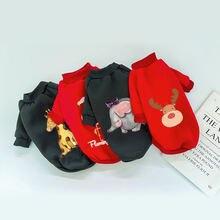 Pet Одежда с принтом в виде собак кошка пижамы для малыша одежда