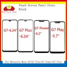 10 sztuk/partia ekran dotykowy dla Motorola Moto G7 \ G7 Plus \ G7 Play \ G7 moc Panel dotykowy przedni zewnętrzny LCD szklany obiektyw G7