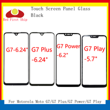 10 unids/lote de pantalla táctil para Motorola Moto G7 \ G7 Plus \ G7 Play \ G7 Power Touch Panel frontal exterior Lente de Cristal LCD G7