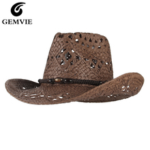 Summer Hat Straw-Hat Cowgirl Paper Sun-Beach-Cap Western Women New GEMVIE for Outback