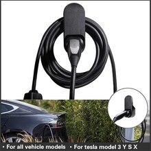 IIOHOII 테슬라 모델 3 S X Y 액세서리 자동차 충전 케이블 주최자 벽 마운트 커넥터 브래킷 충전기 홀더 Adapte