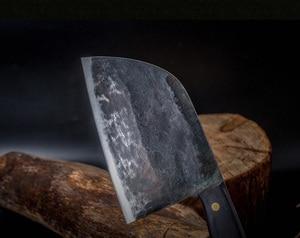 Image 5 - XITUO cuchillo de Chef Tang completo, forjado a mano, acero revestido de carbono, cuchillos de cocina, filetear, cortar, cuchillo de carnicero ancho