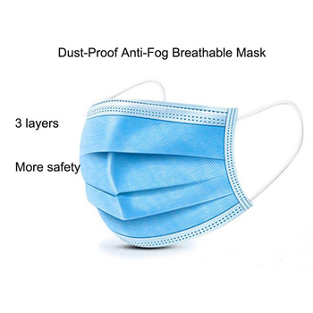 Protective Dustproof Anti-fog And Breathable Face Masks Filtration Mouth Masks 3-Layer protective mask image