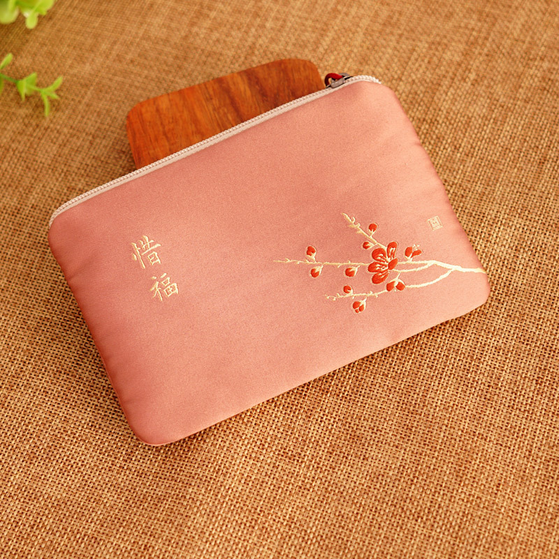 Wallet Purse Zero Antique Style Women's Square Sling Bag Mini Wallet Fabric Coins Zero Zen Modern Chinese Style Chinese-style Sm