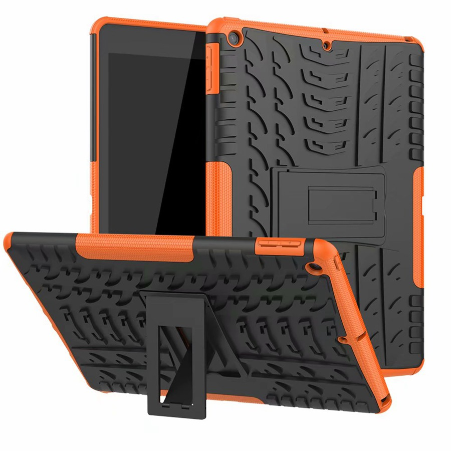 orange Gray Heavy Duty Rugged Armor Case For Apple ipad 10 2 2019 TPU PC Shockproof Cover For